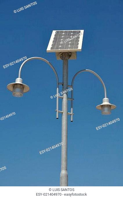 Solar powered lamp post