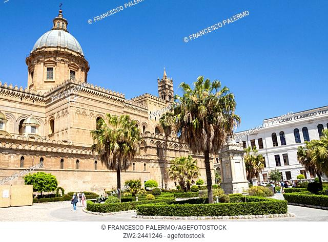 Metropolitan Cathedral of the Assumption of Virgin Mary. Palermo, Sicily. Italy