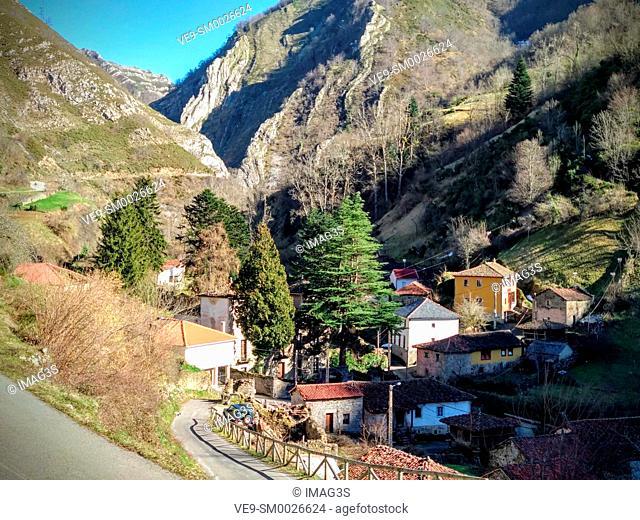 Villarín village, Somiedo Nature Park and Biosphere Reserve, Asturias, Spain