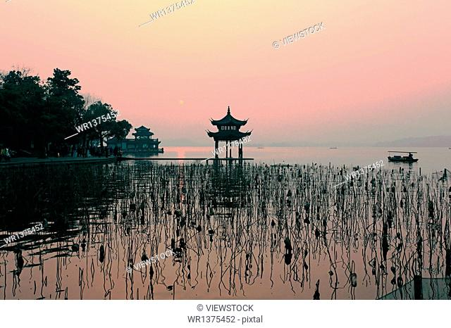 Beautiful West Lake in Hangzhou, Zhejiang Province