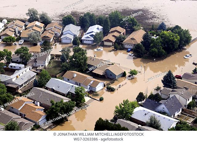 Colorado, USA. 14th Sept, 2013 -- Flooded homes in Colorado USA. Some areas received as much as 18 inches in a 24-hour period -- Picture by Lightroom Photos/US...