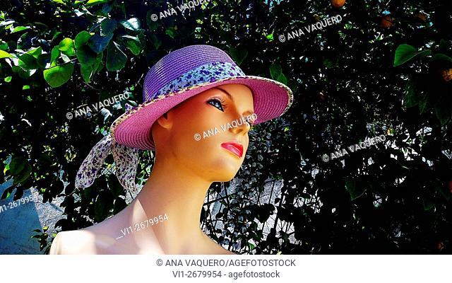 Mannequin with hat, Miajadas, Cáceres, Spain