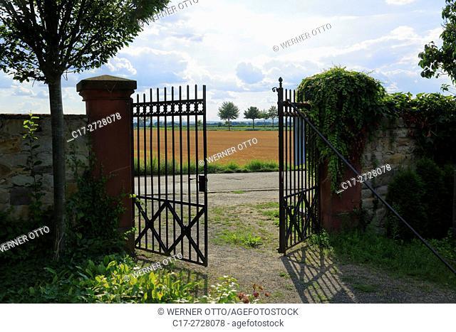 Germany, Worms, Rhine, Upper Rhine, Rhenish Hesse, Rhine-Neckar area, Rhine-Main district, Rhineland-Palatinate, Worms-Ibersheim, Ibersheim village, cemetery