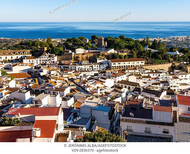 White village of Mijas Pueblo. Malaga province Costa del Sol. Andalusia southern Spain. Europe