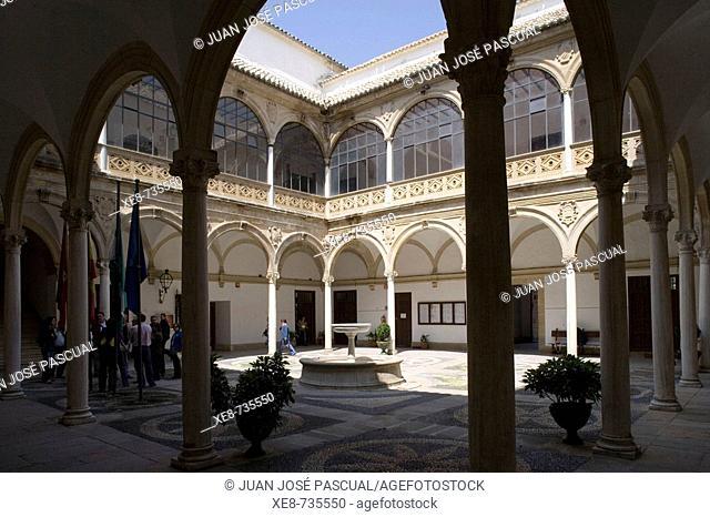 Courtyard of Palacio de las Cadenas, Ubeda. Jaen province, Andalucia, Spain