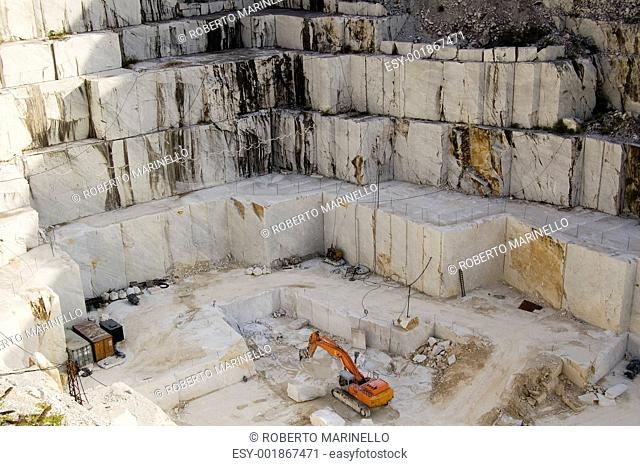 quarry of white marble