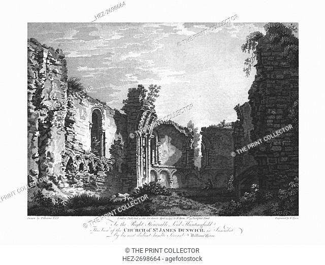 Church of St James, Dunwich, late 18th century. Creator: William Byrne