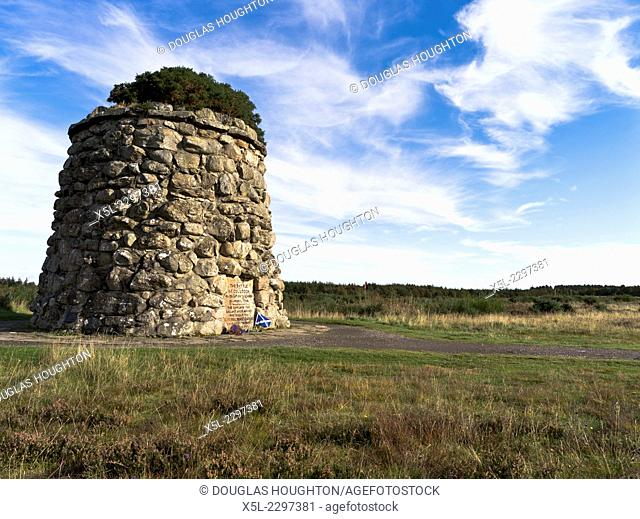 Culloden battlefield CULLODEN MOOR INVERNESSSHIRE Memorial stone