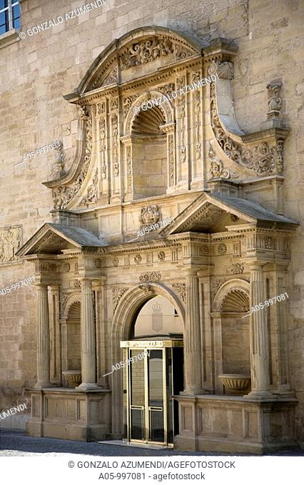Front of the former Merced convent. Current seat of the Parliament of La Rioja. Logroño. La Rioja. Spain
