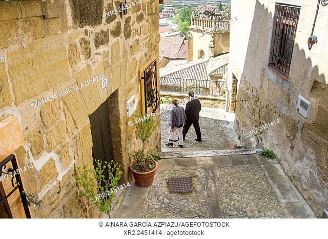Narrow streets of Labastida, Alava, Basque Country