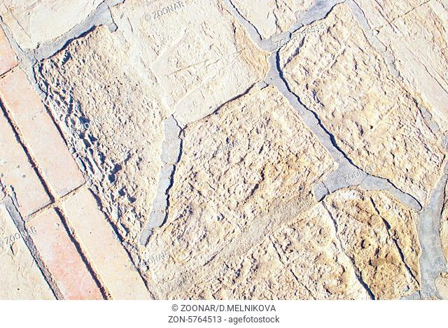 close up of stone road