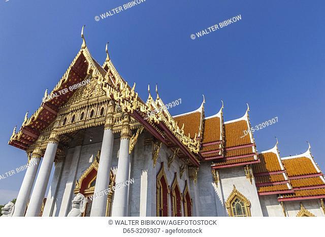 Thailand, Bangkok, Dusit Area, Wat Benchamabophit, Marble Temple, exterior