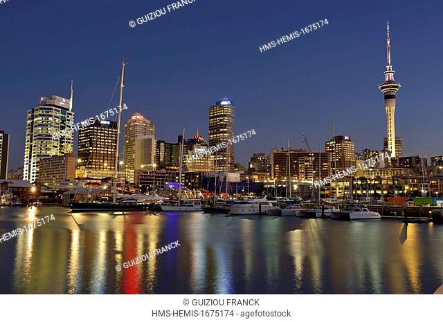 New Zealand, North Island, Auckland, Central Business District (ou CBD), Viaduct Harbour (or Viaduct Basin) is a former commercial harbor on the Auckland...