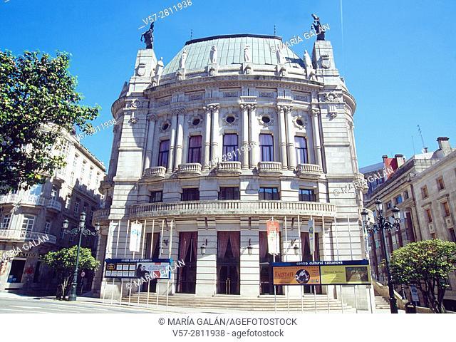 Facade of Caixanova Cultural Center. Vigo, Pontevedra province, Galicia, Spain