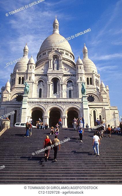 France, Paris, Sacre Coeur