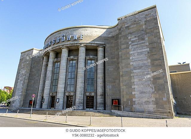 Berlin, Germany. The Volksbuhne building in former East-Berlin, near Alexander Platz