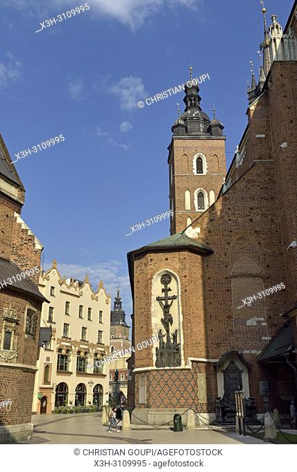 Church of Our Lady Assumed into Heaven (also known as Saint Mary's Church), Krakow, Malopolska Province (Lesser Poland), Poland, Central Europe