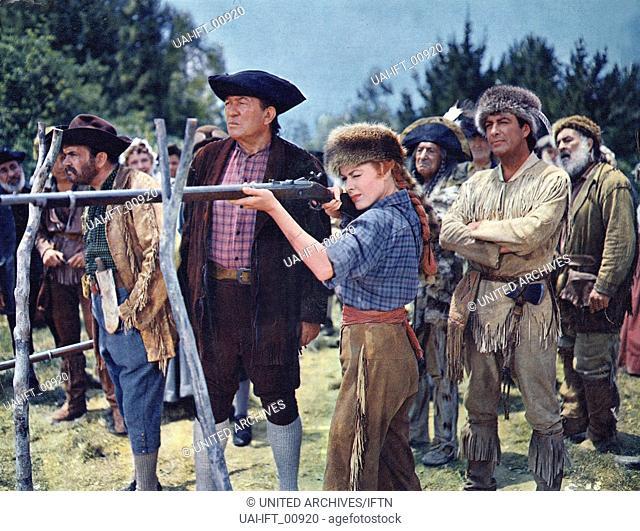 Many Rivers to Cross, USA 1955, aka: Ein Mann liebt gefährlich, Regie: Roy Rowland, Darsteller: Robert Taylor, Eleanor Parker, Rhys Williams, Victor McLaglen