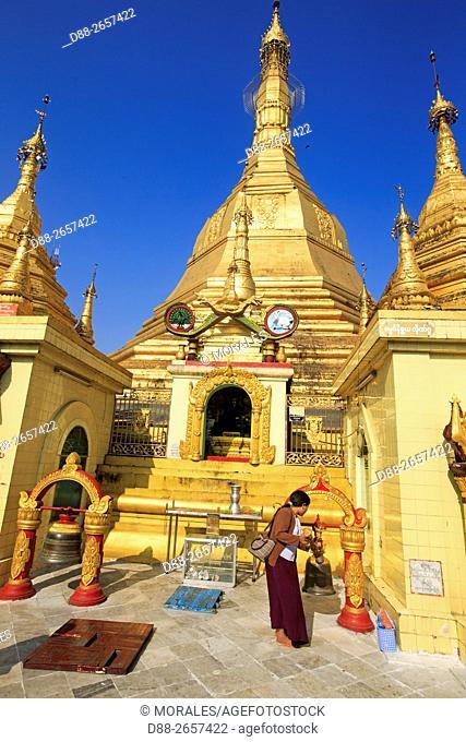 Myanmar, Yangon State, Yangon, Sule Pagoda