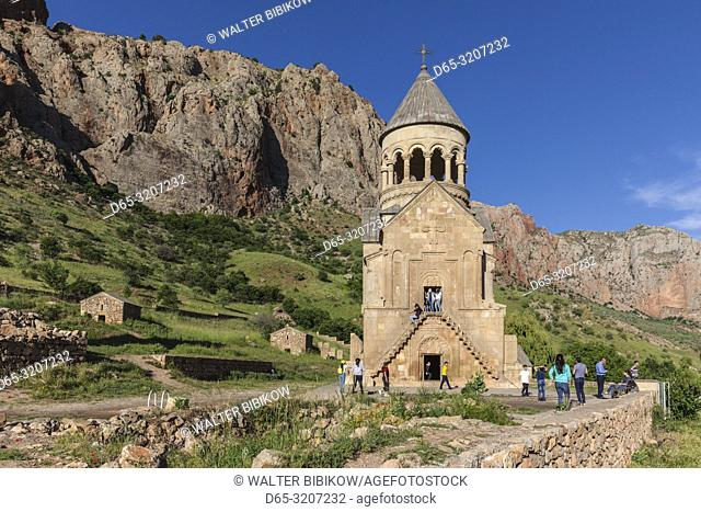 Armenia, Noravank, Noravank Monastery, 12th century, late afternoon with visitors, NR