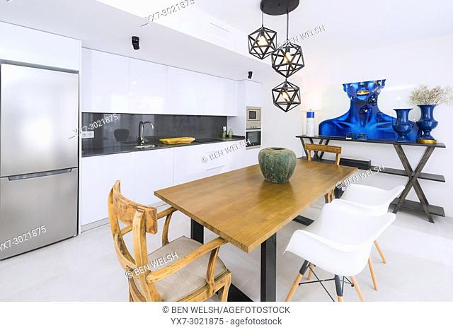Kitchen, Indoor real estate. Malaga, Andalusia, Spain