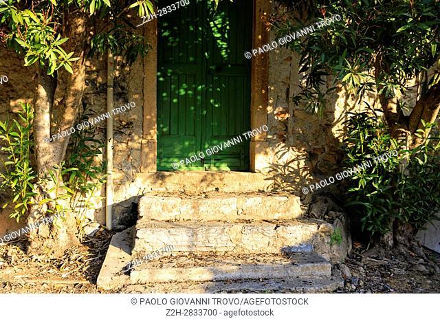 An old door, Finalborgo, Finale Ligure, Liguria, Italy
