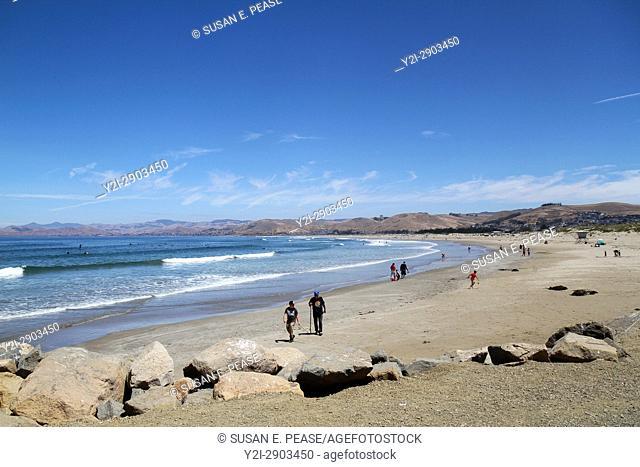 Morro Rock Beach, Morro Bay, San Luis Obispo County, California, United States, North America