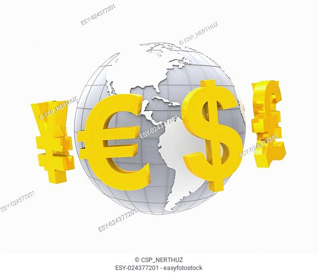 Global Currencies Around a Globe