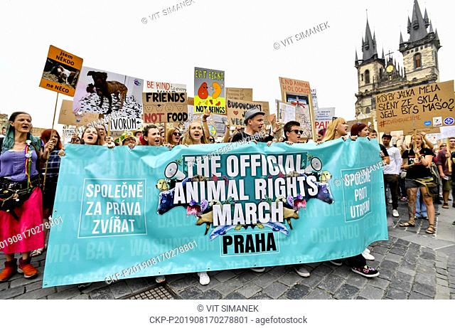 The Official Animal Rights March, the annual vegan march simultaneously held in dozens of cities all over the world, also took place in Prague, Czech Republic