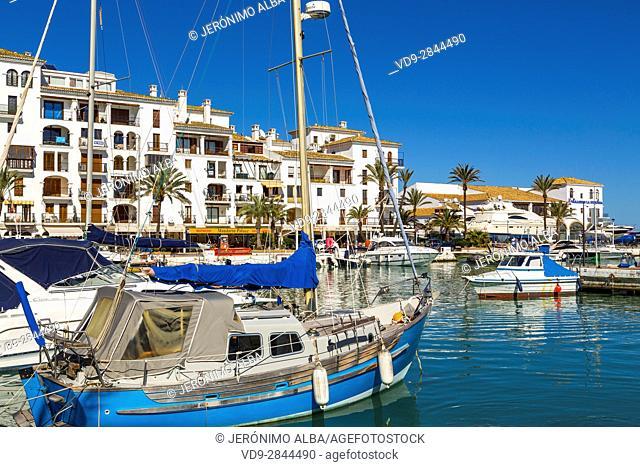 Marina. Puerto Deportivo La Duquesa, Manilva. Malaga province Costa del Sol. Andalusia Southern Spain, Europe