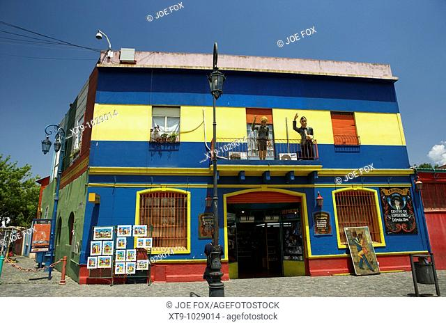 colourful tourist souvenir shop in caminito street la boca capital federal buenos aires republic of argentina south america