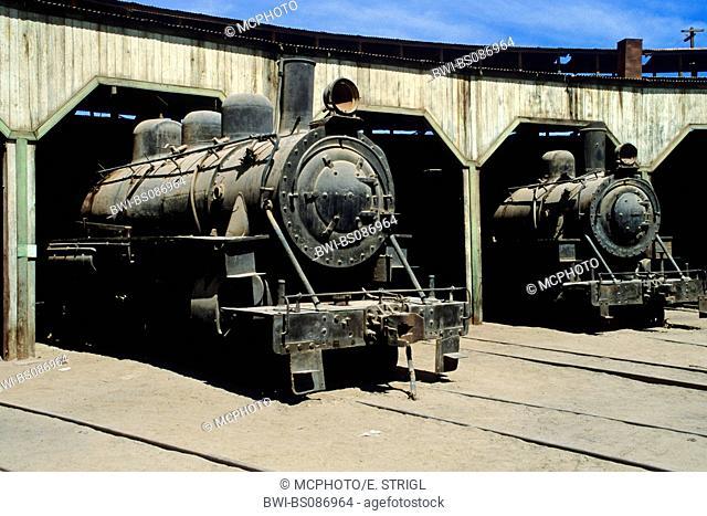 historic railway station of Baquedano, Chile