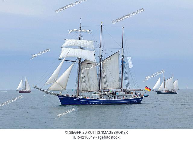 Sailing boat, barque, Hanse Sail, Rostock, Mecklenburg-Western Pomerania, Germany