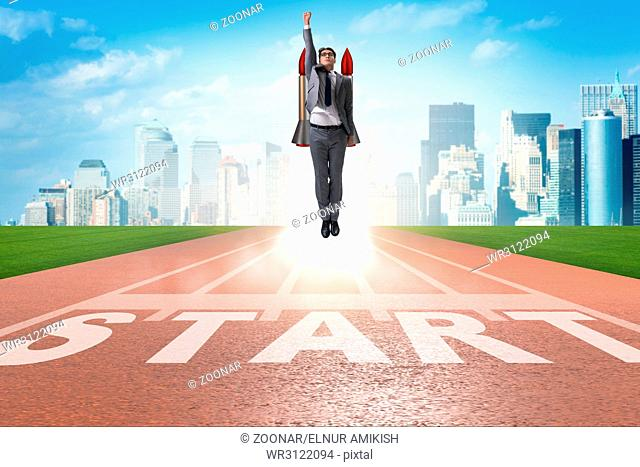 Businessman in start up business concept