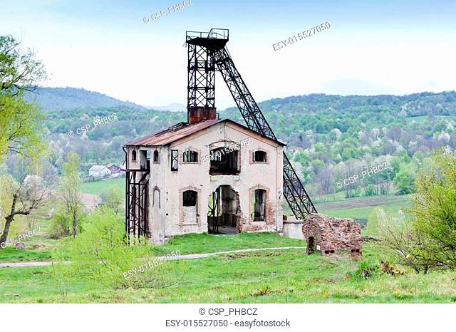 old mining tower near Resavica