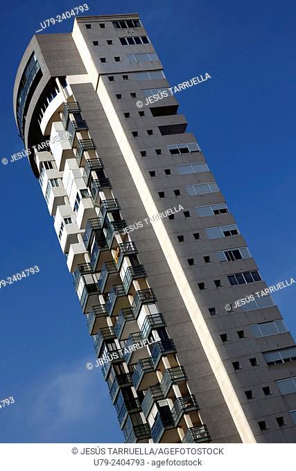 Apartment building in Benidorm. Alicante. Valencia. Spain. Europe