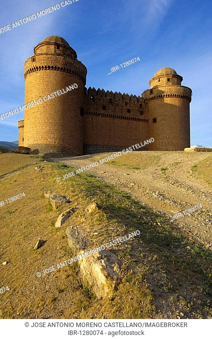 La Calahorra renaissance castle at la Calahorra village, Granada province, Andalusia, Spain, Europe
