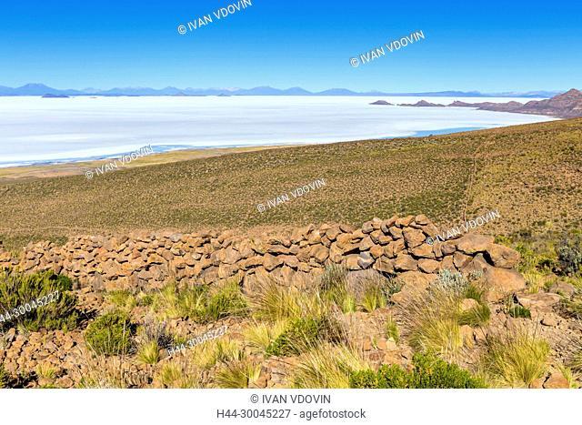 Uyuni salt flat, Salar de Uyuni, near Coqueza, Potosi department, Bolivia