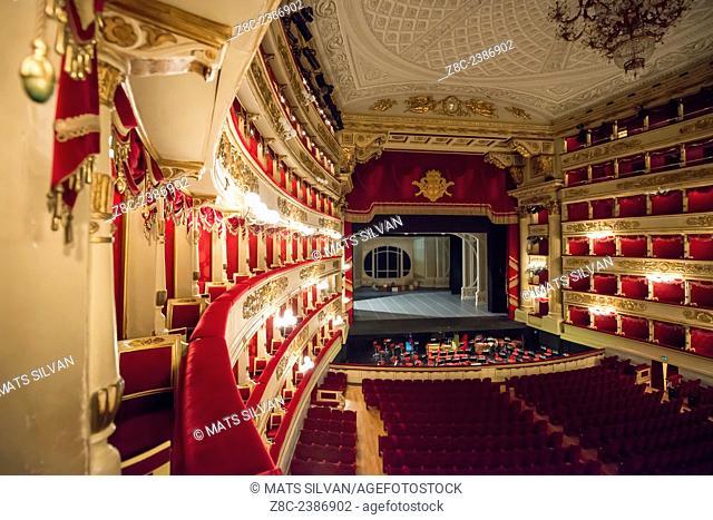 La Scala Opera House Theatre in Milan, Italy