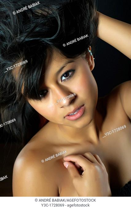 Portrait of beautiful young latina