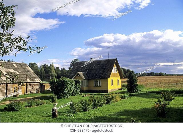 village ecomusee de Koguva sur l'ile de Muhu,region de Saare,Estonie,pays balte,europe du nord