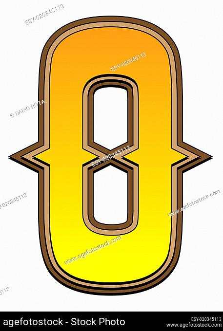 Western alphabet number - 0