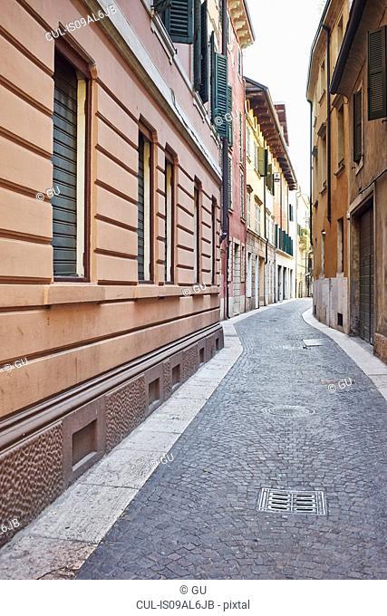 Narrow street, Verona, Italy