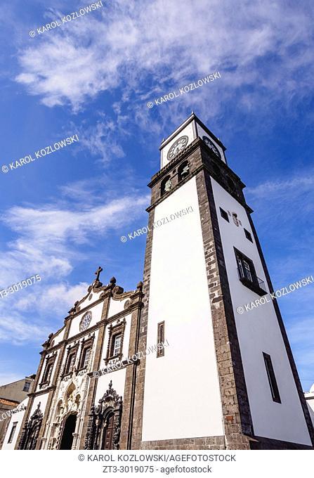 Main Church, Ponta Delgada, Sao Miguel Island, Azores, Portugal