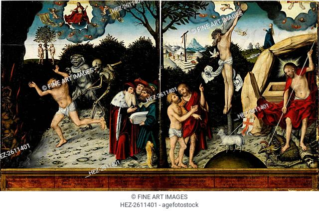 Allegory of Law and Grace, after 1529. Artist: Cranach, Lucas, the Elder (1472-1553)