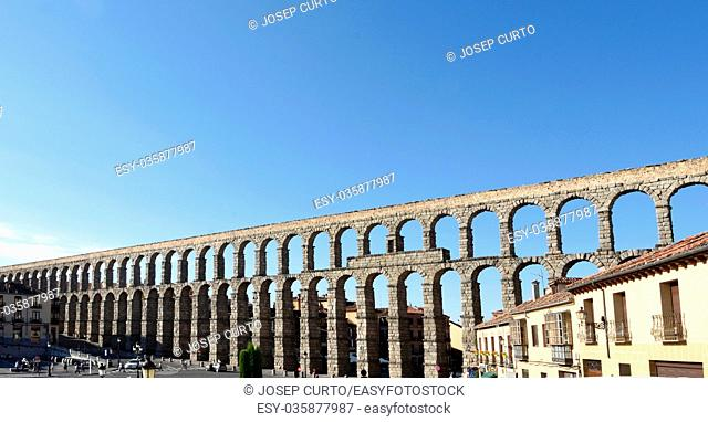Roman aqueduct of Segovia, Castilla-Leon,Spain