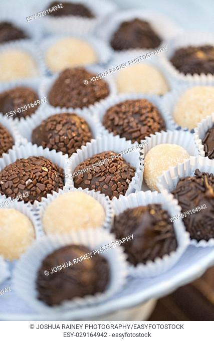 Homemade truffles at a wedding reception in Oregon