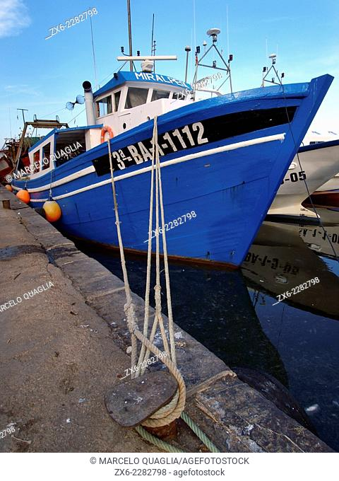 Vilanova i La Geltru fishing port. Barcelona province, Catalonia, Spain