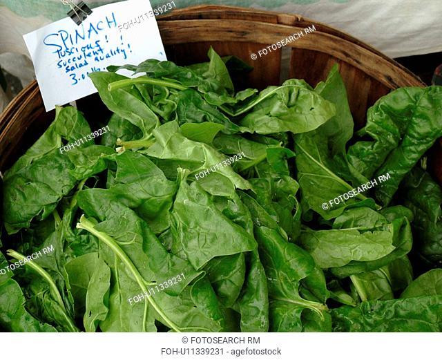 Montpelier, VT, Vermont, Farmer's Market, spinach