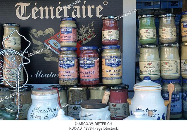 Several kinds of mustard Dijon Cote d'Or Burgundy France